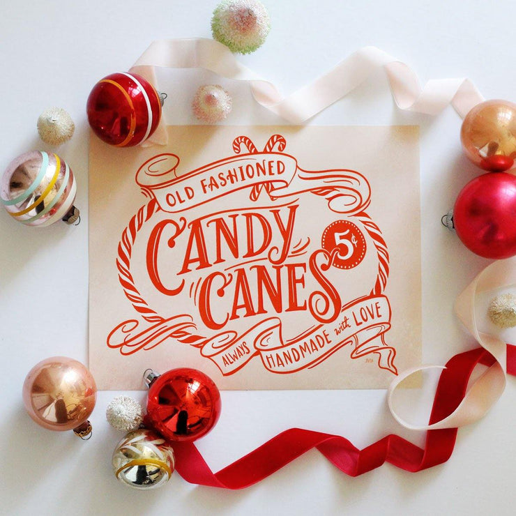 Old Fashioned Candy Canes - Print