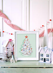 Grandma's Tree in White - Print
