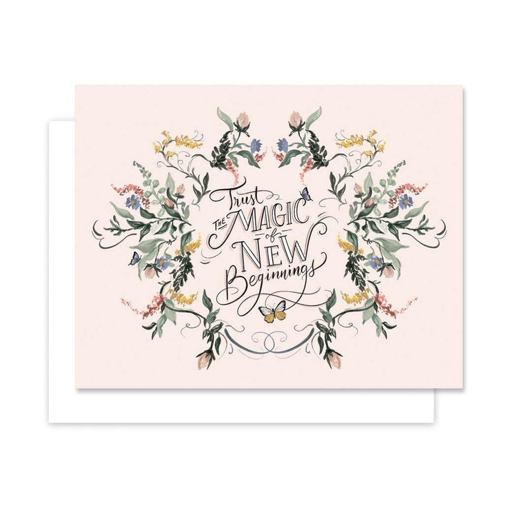 Trust the Magic of New Beginnings - A2 Note Card