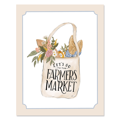 Let's Go To The Farmers Market - Print