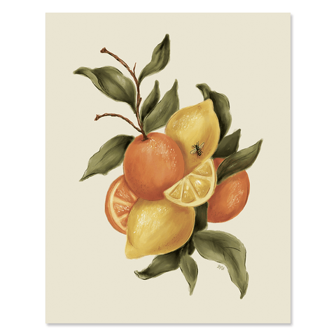 Citrus in Isolation - Print