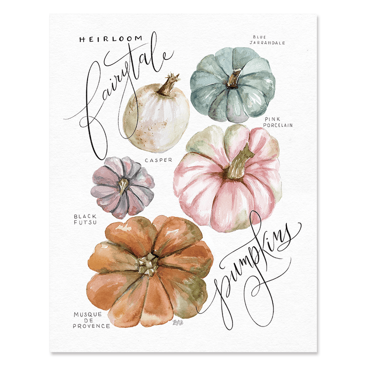 Guide to Heirloom Pumpkins - Print