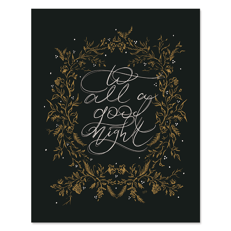 To All A Good Night - Print