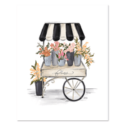 French Flower Cart - Print