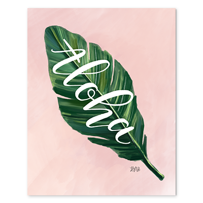 Aloha leaf print for your summer home decor