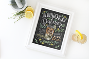 Arnold Palmer cocktail drink print by Lily & Val