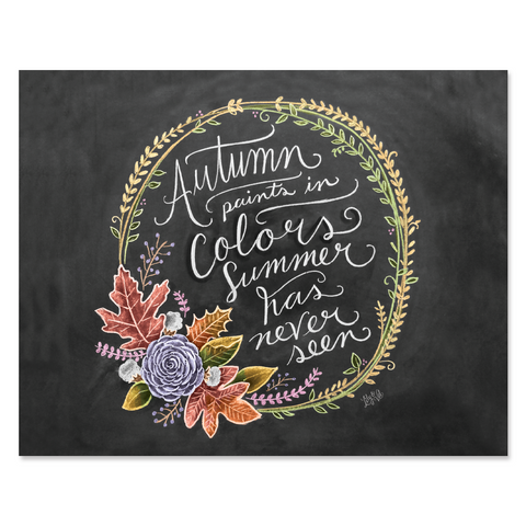 Autumn Paints in Colors - Print