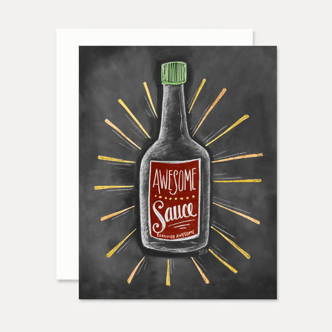 Awesome Sauce - A2 Note Card