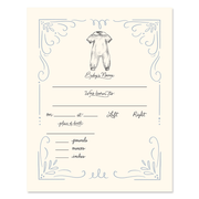 Fill In The Blank Baby Birth Stats Print - Boy