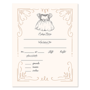 Fill In The Blank Baby Birth Stats Print - Girl
