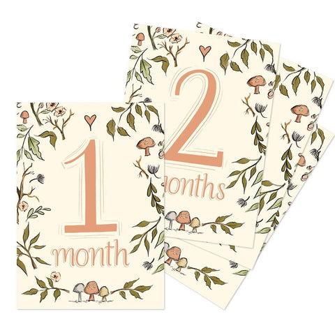 Woodland Monthly Baby Milestone Cards - Digital Download