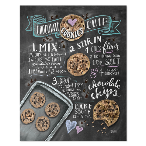 Chocolate Chip Cookie Recipe - Print