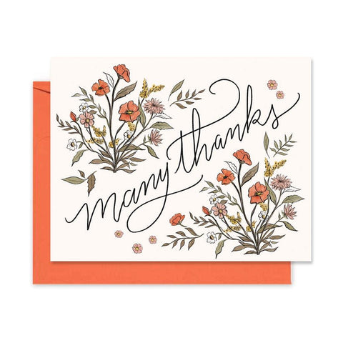 Many Thanks - A2 Note Card