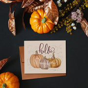 Hello Pumpkin - A2 Note Card