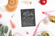 Hot Cocoa Recipe - A2 Note Card