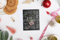 Egg Nog Recipe - A2 Note Card