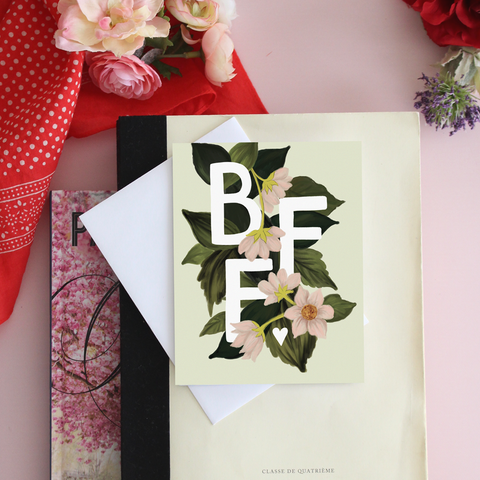 BFF - A2 Note Card