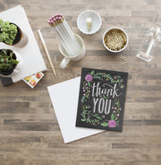 Thank You Card hand drawn design by Valerie McKeehan