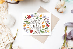 Happy Fall - A2 Note Card