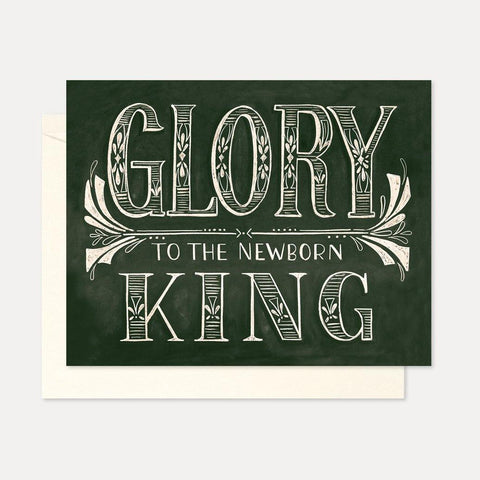 Lily val hand lettered chalk art greeting cards for birthdays glory to the newborn king a2 note card m4hsunfo