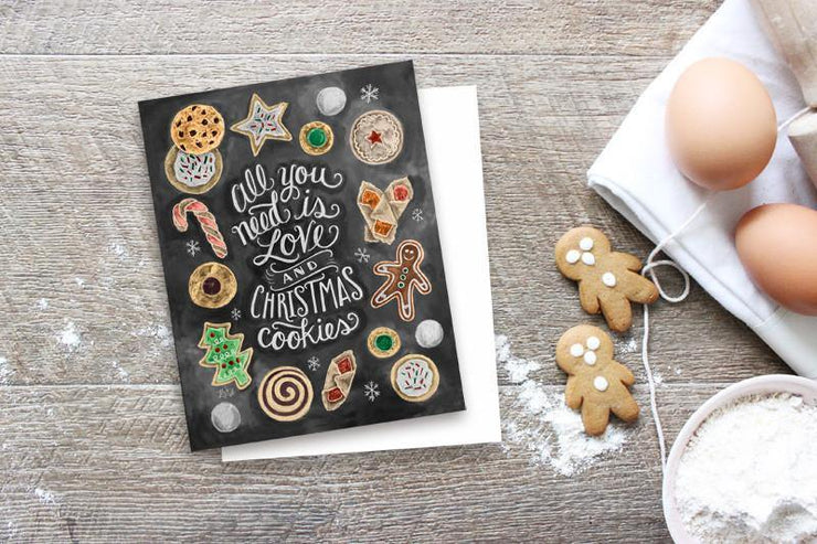 Christmas Cookie Holiday Card by Lily & Val