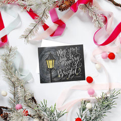May Your Days Be Merry & Bright - A2 Note Card