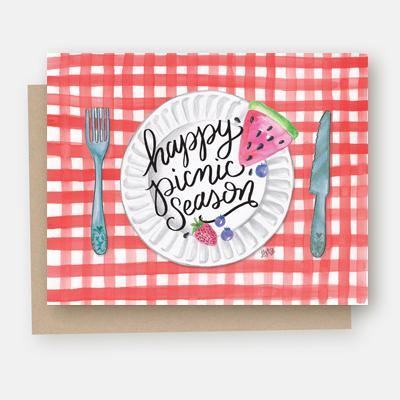 Happy Picnic Season - A2 Note Card