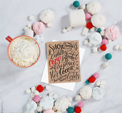 Snow Angels & Hot Cocoa - A2 Note Card