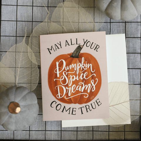 Pumpkin Spice Dreams- A2 Note Card