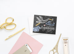 Congratulations Stork - A2 Note Card