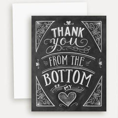 Thank You From the Bottom of My Heart - A2 Note Card