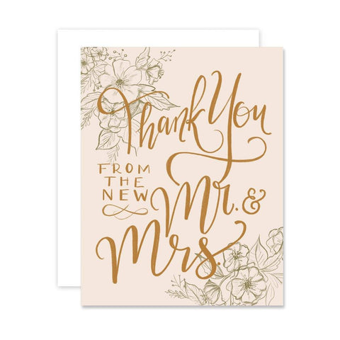Thank You From The New Mr. & Mrs. - A2 Note Card