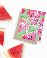 Happy Watermelon Season - A2 Note Card