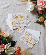 Will You Be My Bridesmaid & Maid Of Honor Card Set
