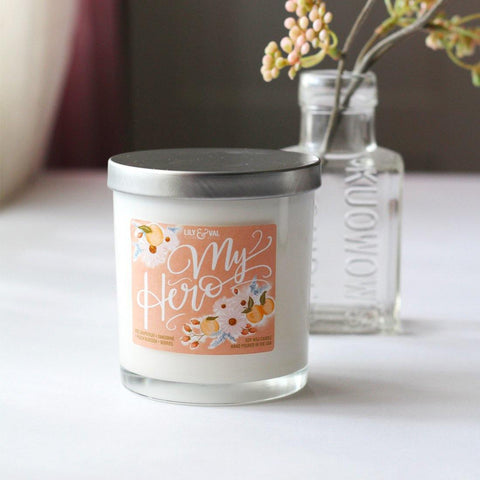 "Limited Edition ""My Hero"" Soy Wax Candle"
