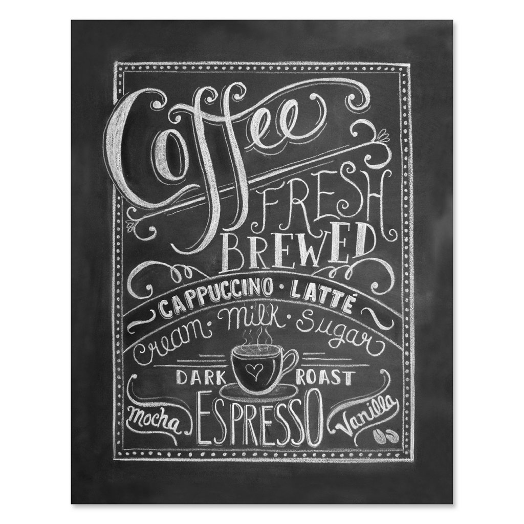 Kitchen Gallery Wall Lily Amp Val Coffee Love Coffee Art Print Chalkboard