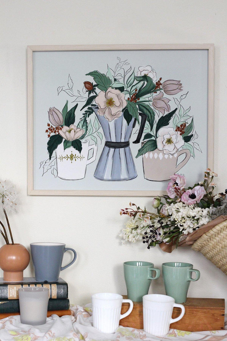 Coffee & Flowers - Print