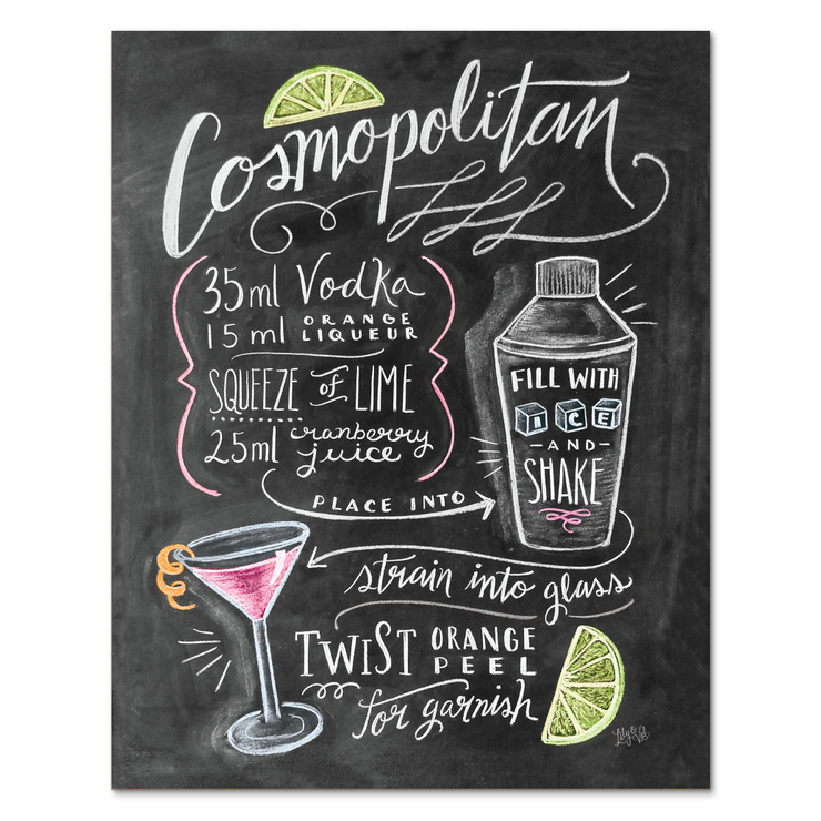 Cosmopolitan Cocktail Recipe - Print