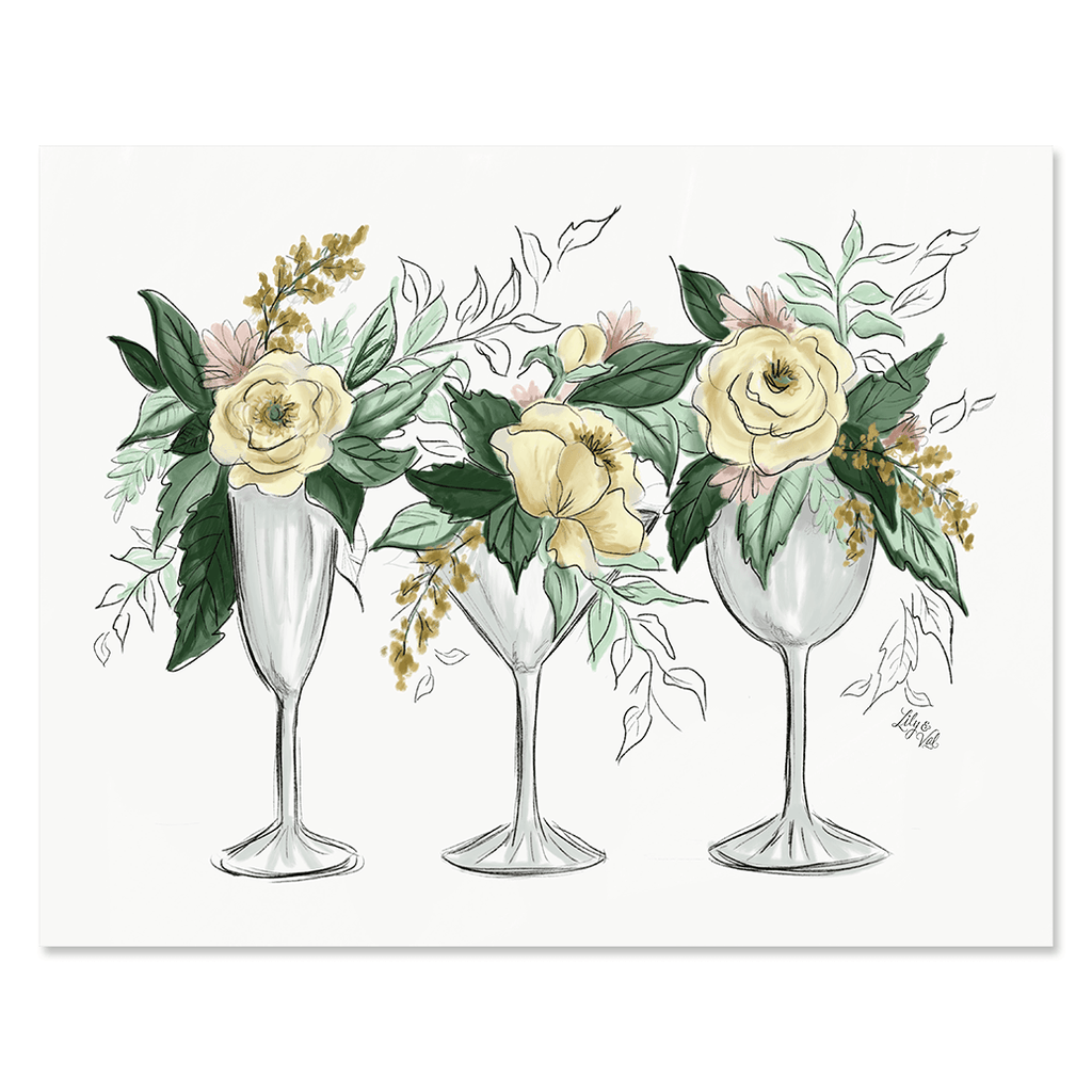 Cocktails & Flowers - Print