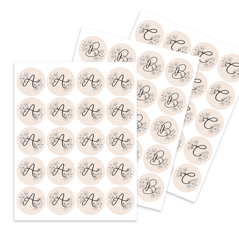 Monogram Favor Tags - Digital Download