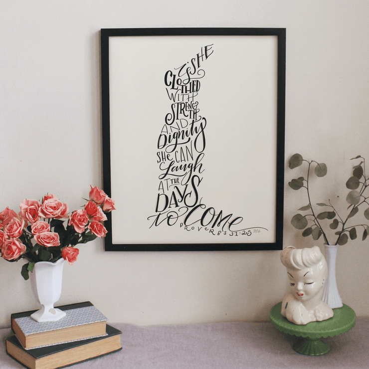 Proverbs 31 Trumpet Dress Figure - Print