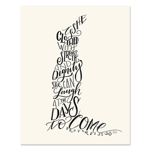 Proverbs 31 Trumpet Dress Figure - Print & Canvas