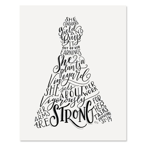 Proverbs 31 A-Line Dress Figure - Print & Canvas