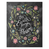 The Earth Laughs in Flowers - Print