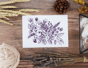 Fall Botanical (Plum) - Print