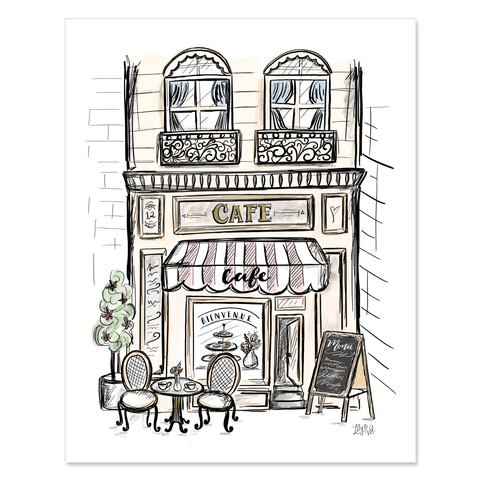 Cafe in France - Print & Canvas