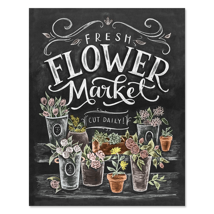 Fresh Flower Market - Print