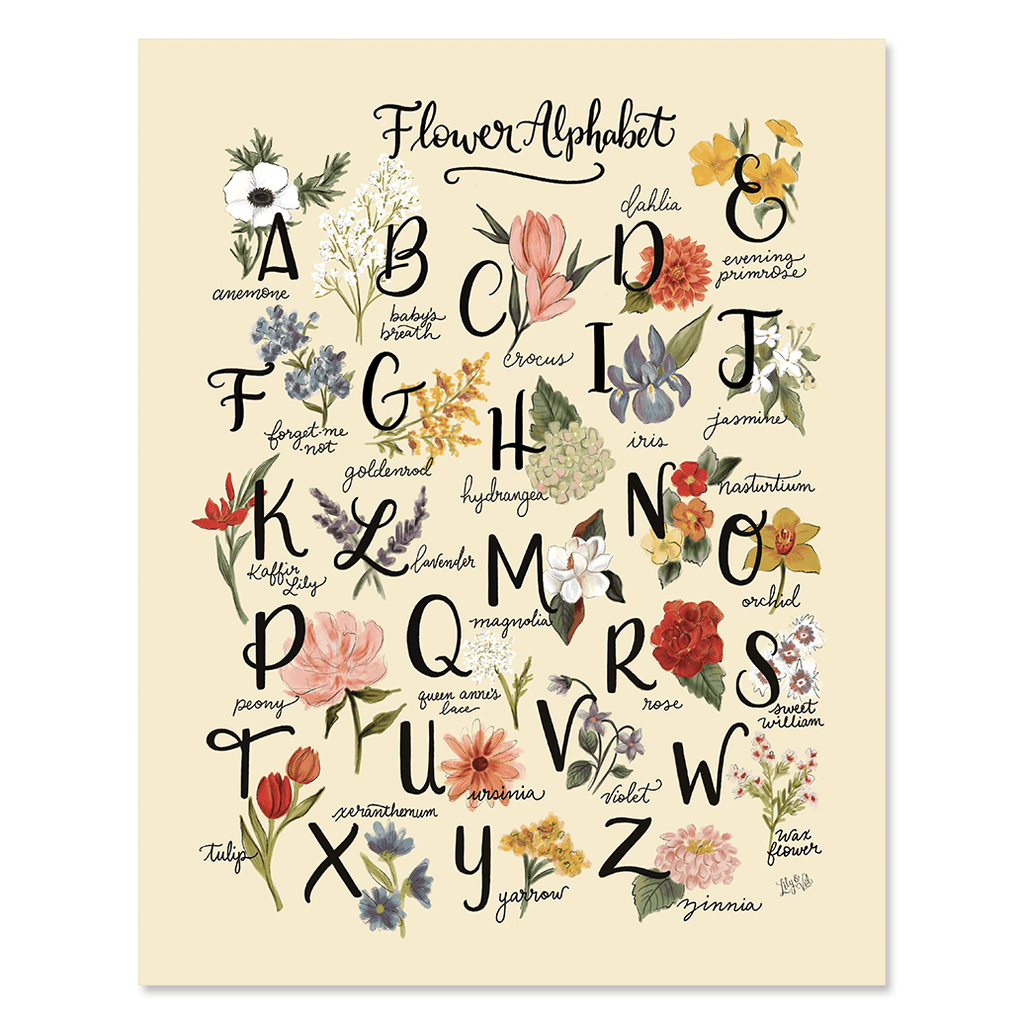 Flower Alphabet - Print & Canvas