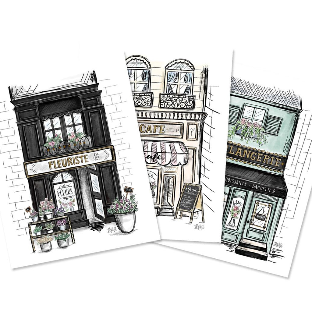 French Buildings - Set of 3 Prints