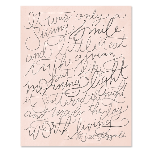 F. Scott Fitzgerald Poem - Print & Canvas